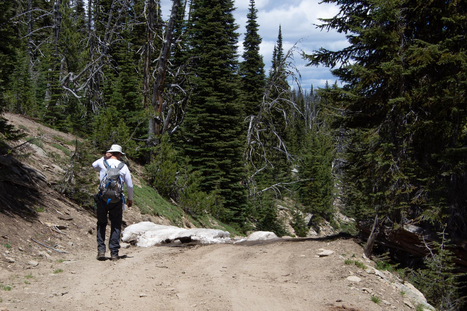 Hiking in Payette National Forest, Idaho.