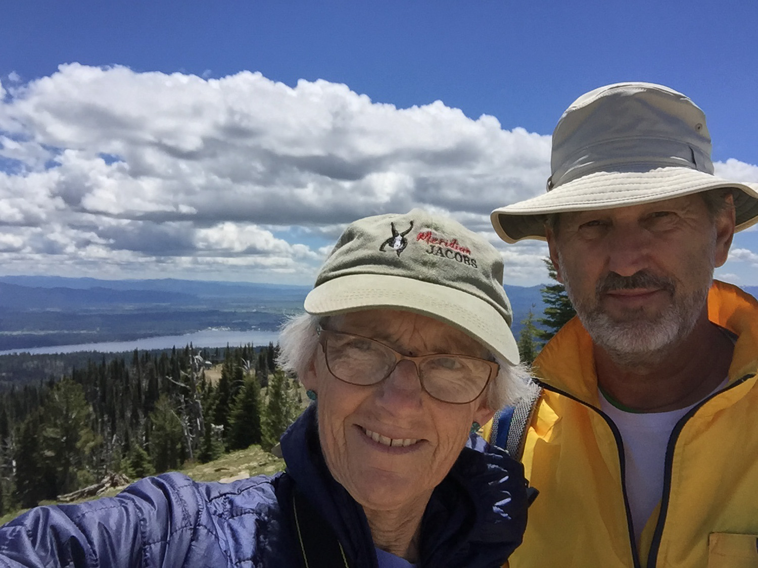 Selfie at Brundage Mountain lookout.