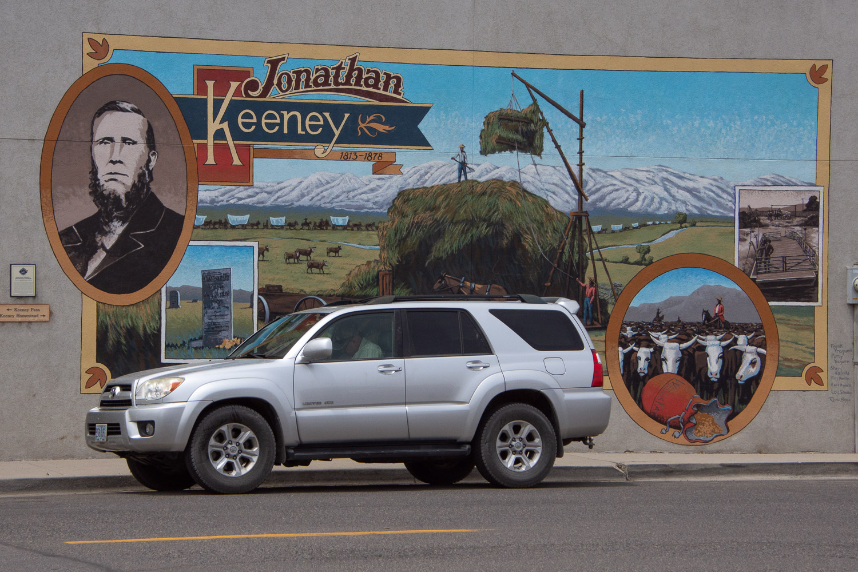 Oregon Trail Mural in Keeney Oregon