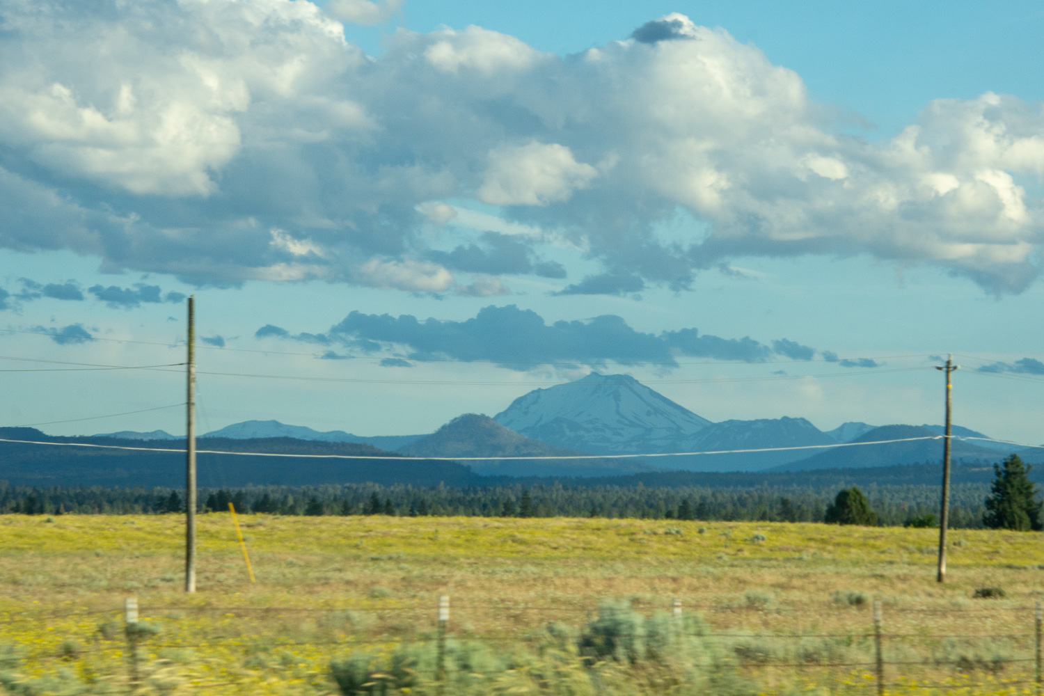 Mt. Lassen from the road.