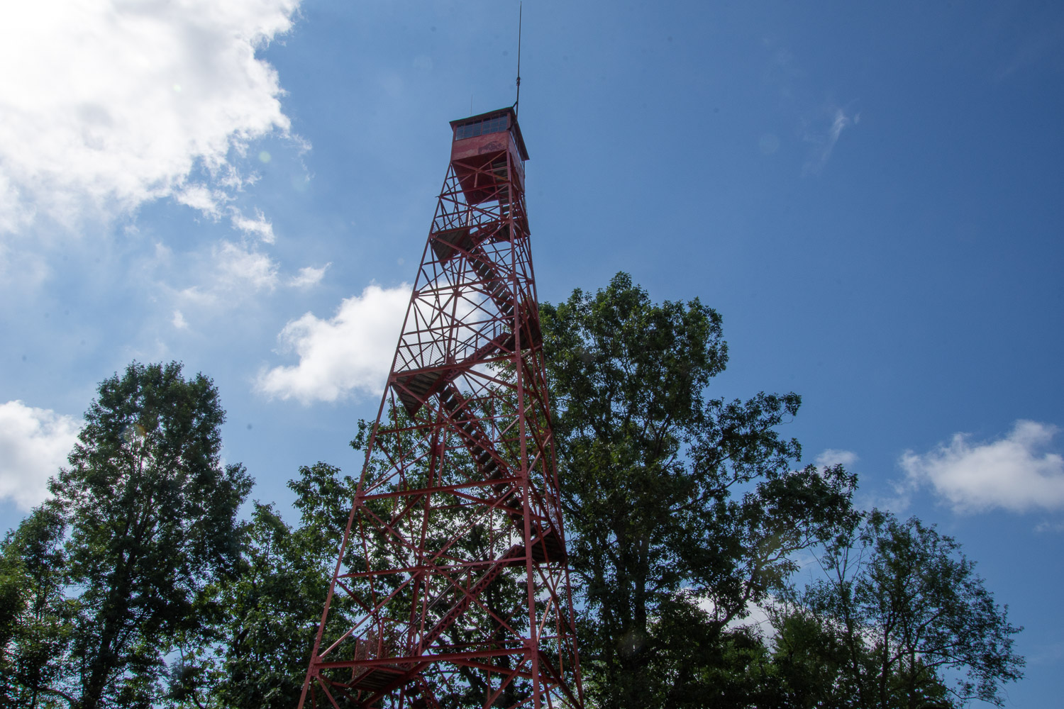 Fire tower at Mohican STate Park in Ohio.