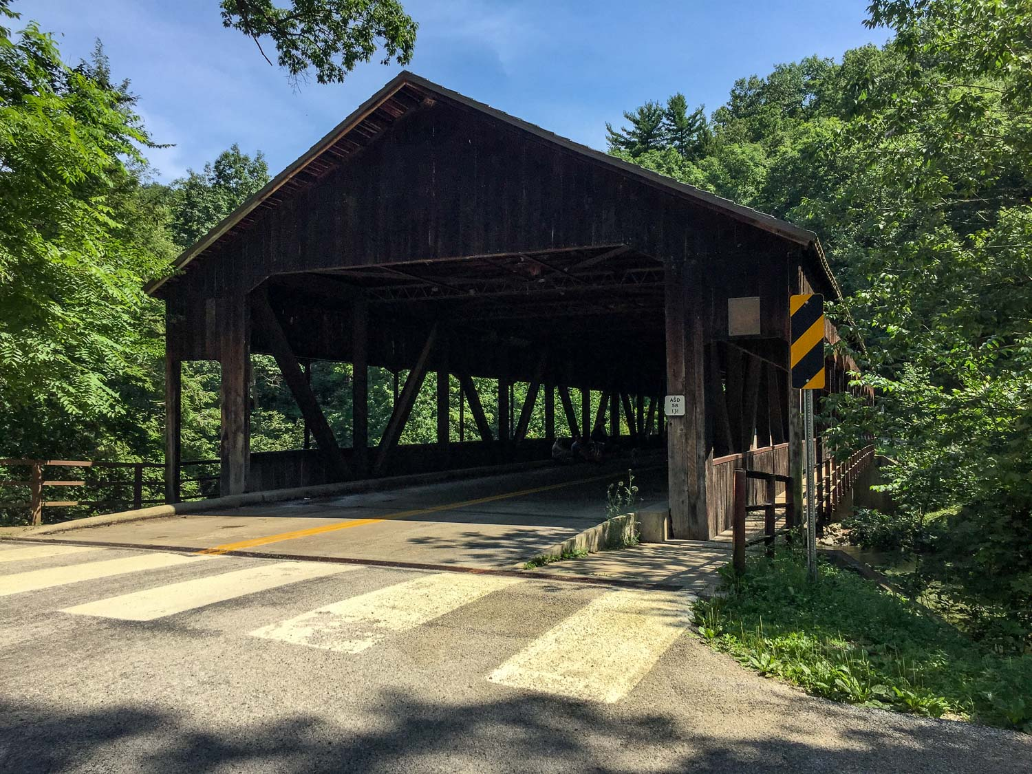Covered bridge at Mohican State Park in Ohio