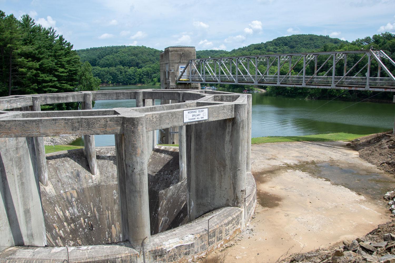 Pleasant Hill Lake Dam in Ohio.