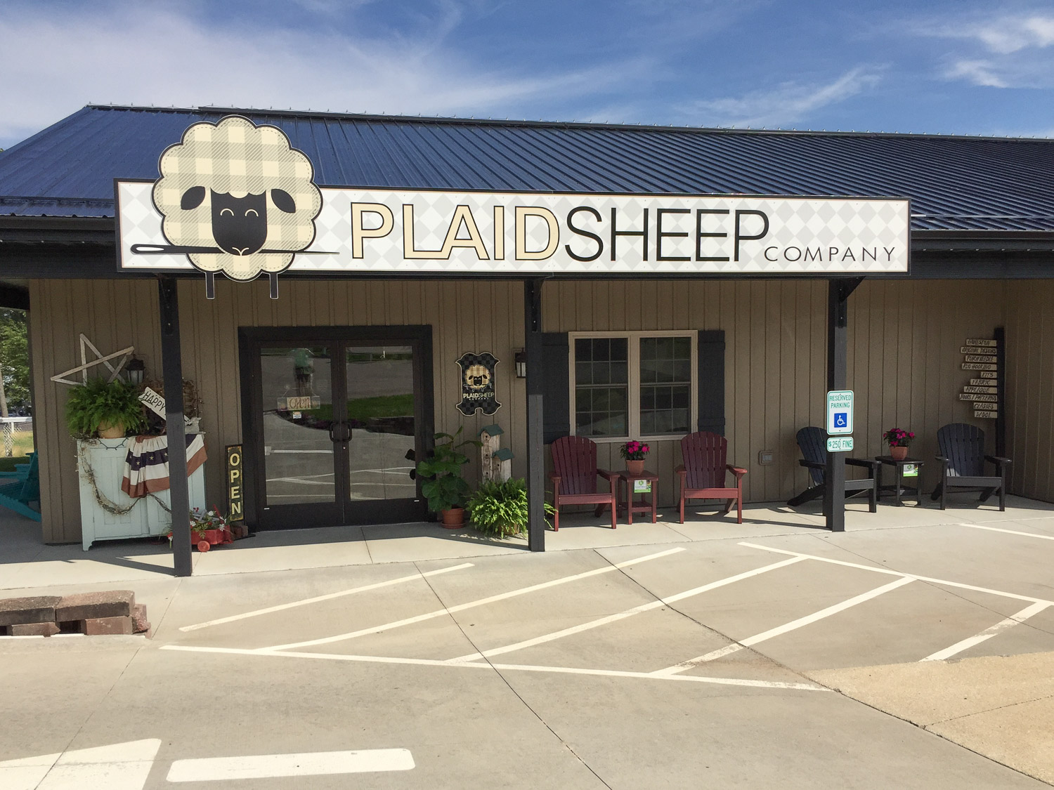 The Plaid Sheep in Berlin Ohio.