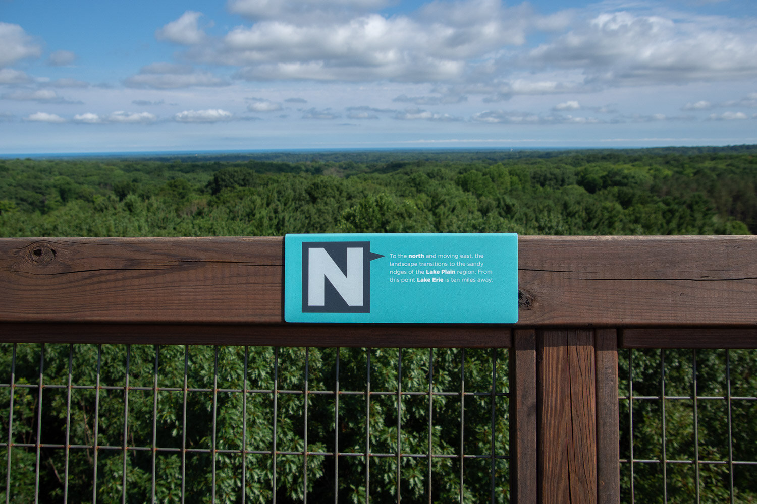 View from Emergent tower in Holden Arboretum, Ohio.