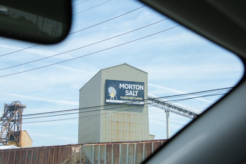 Morton salt factory at Lake Erie.