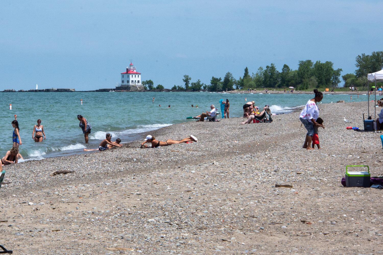 Beach at Lake Erie