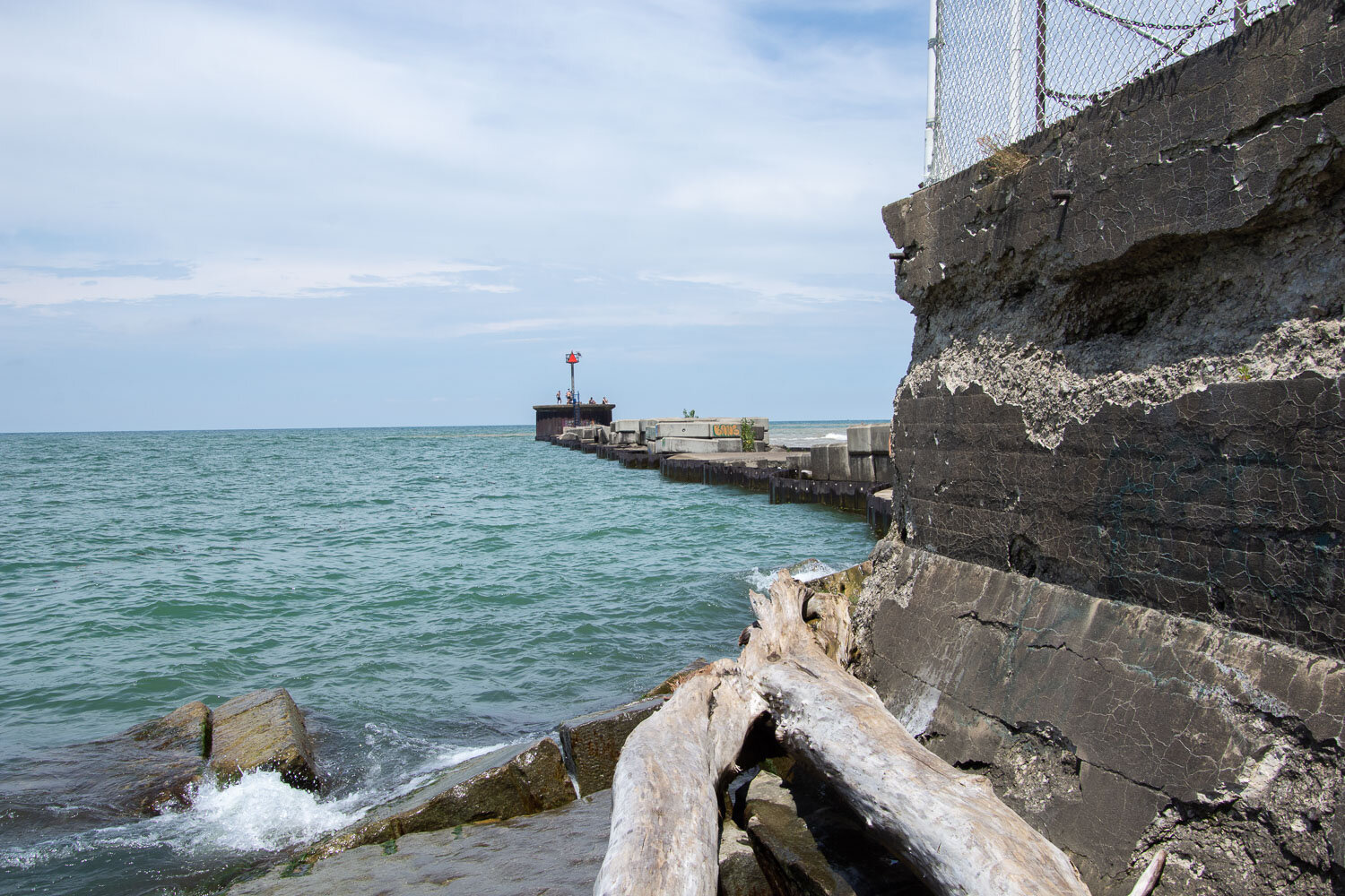 Lighthouse at Lake Erie.