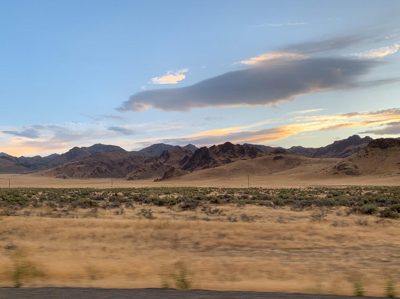 Driving east through Nevada.