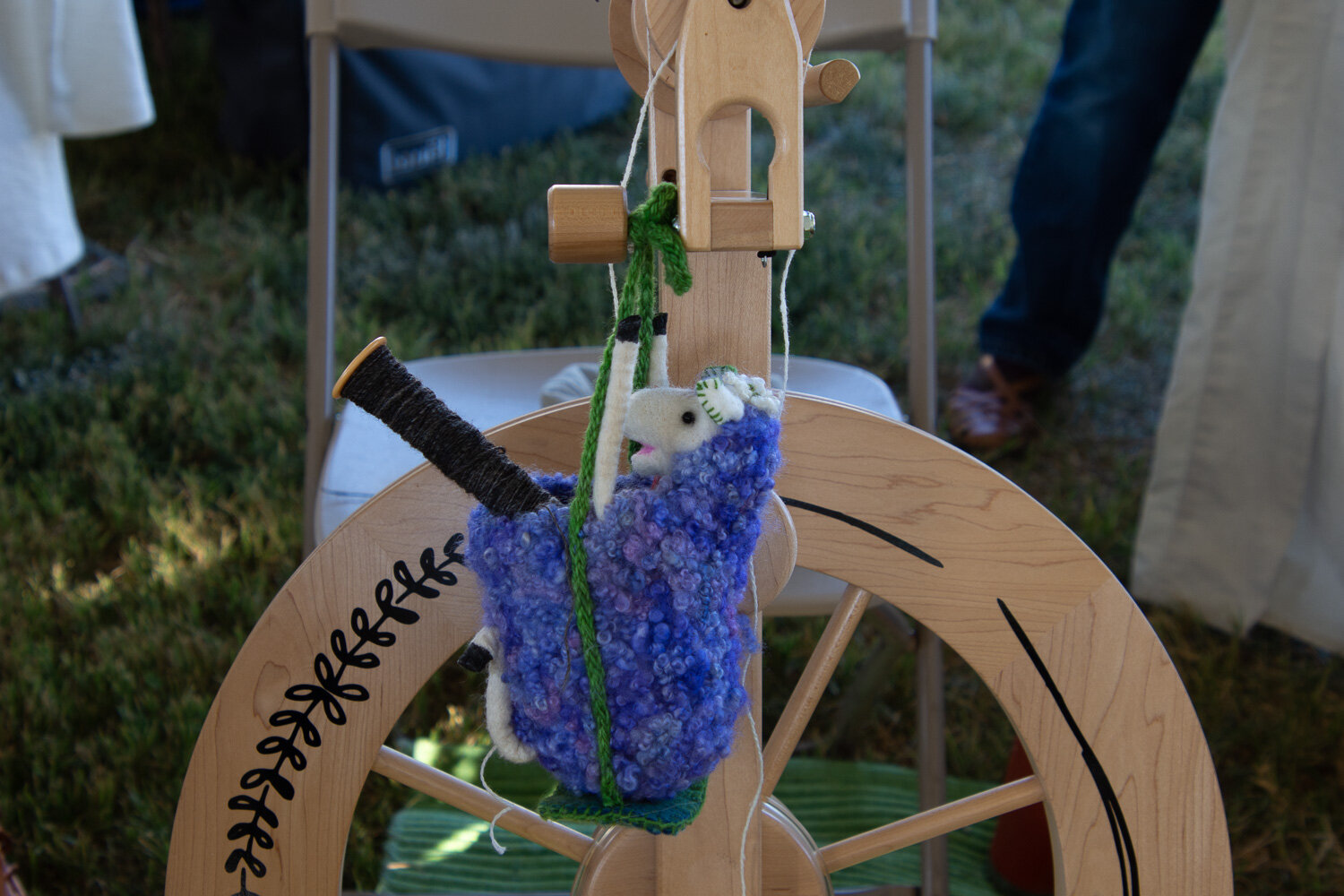Spinning wheel bag.