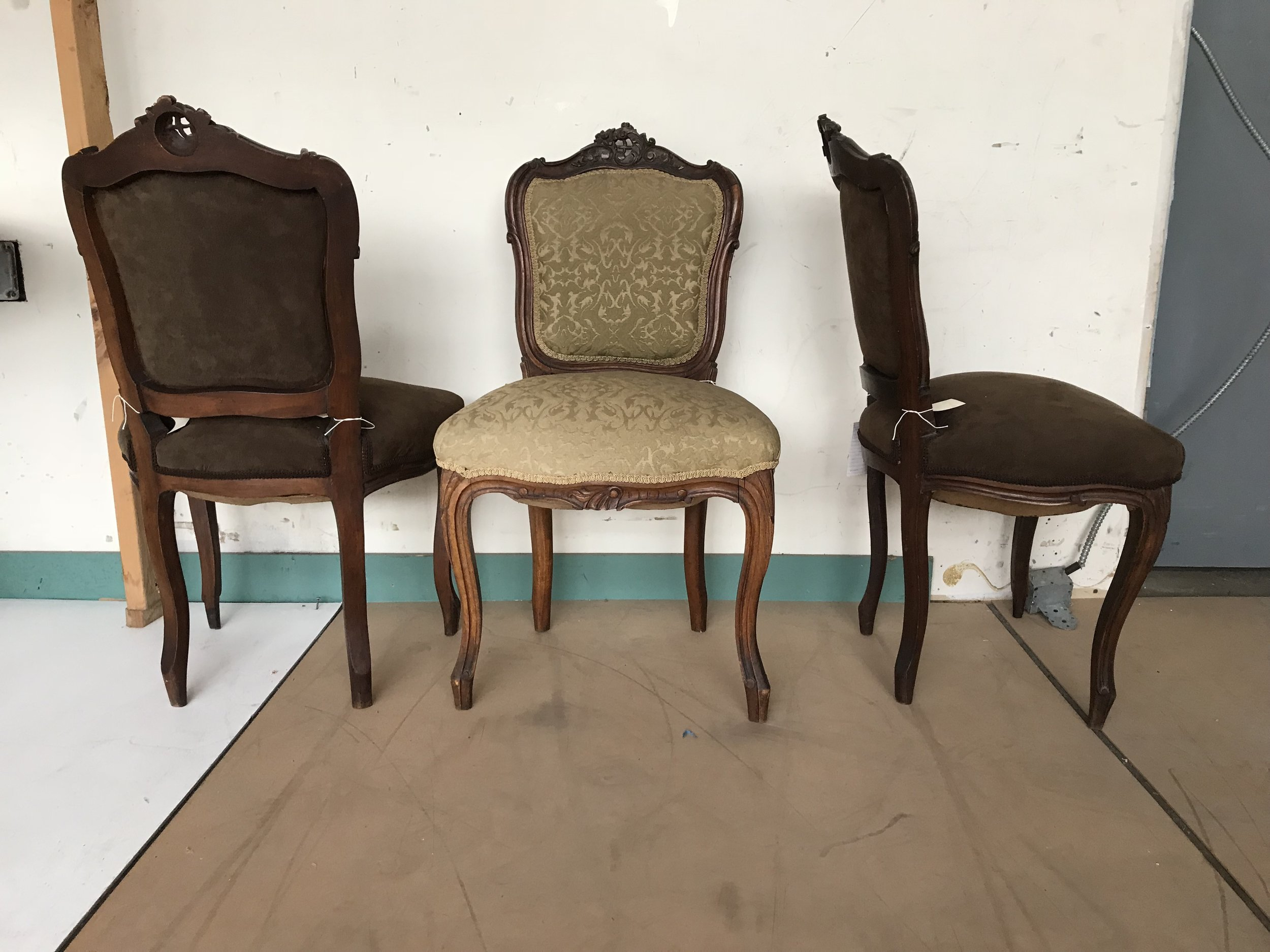 Set Four Louis Style Chairs1.JPG