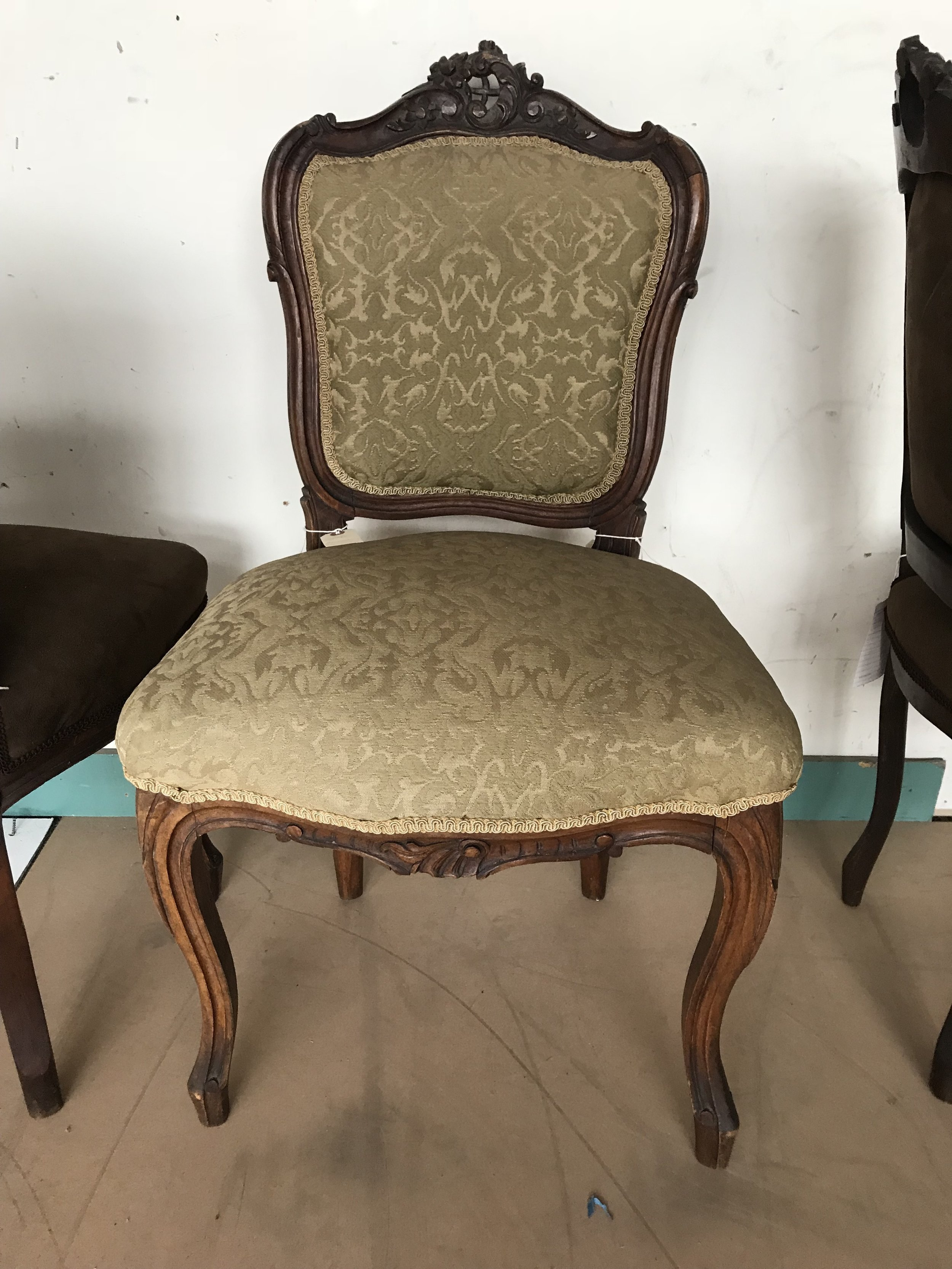 Set Four Louis Style Chairs2.JPG