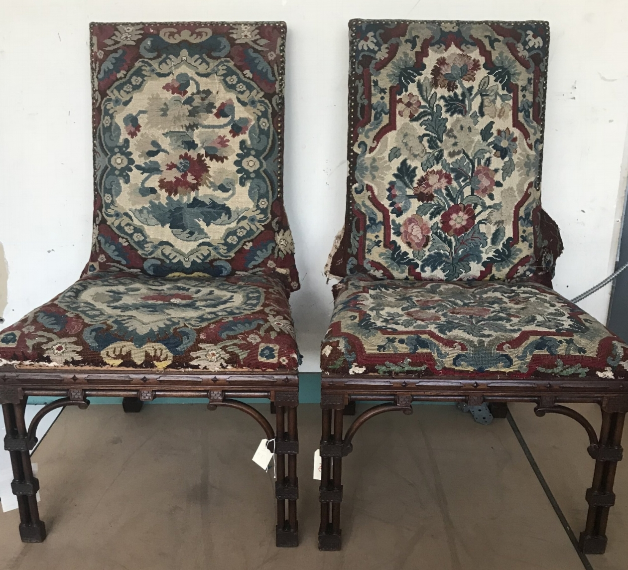 Pair of Tapestry Upholstered Chairs
