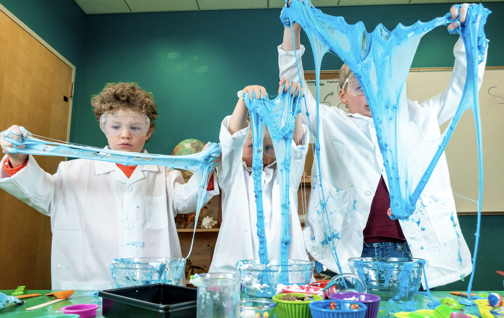 Slime is a fun way to introduce young scientists to polymers!