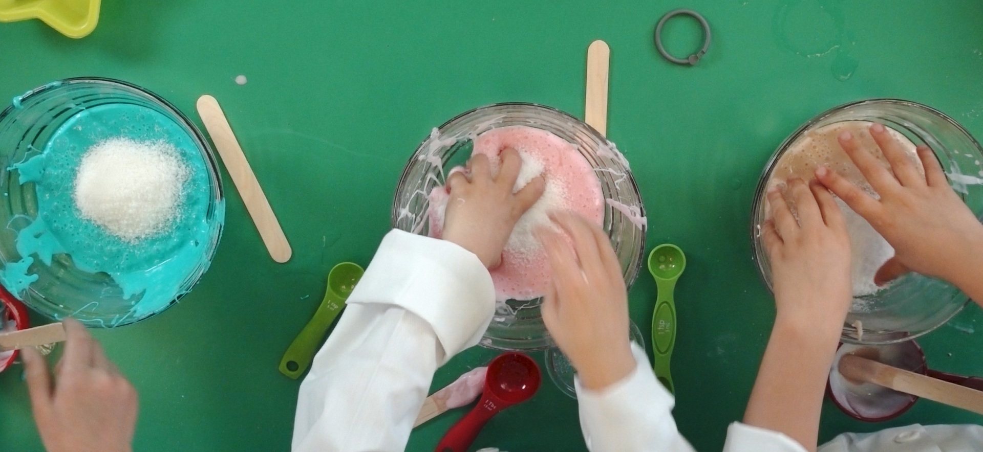 Making slime is a fun activity for young scientists. Download our free slime science activity guides for tips!
