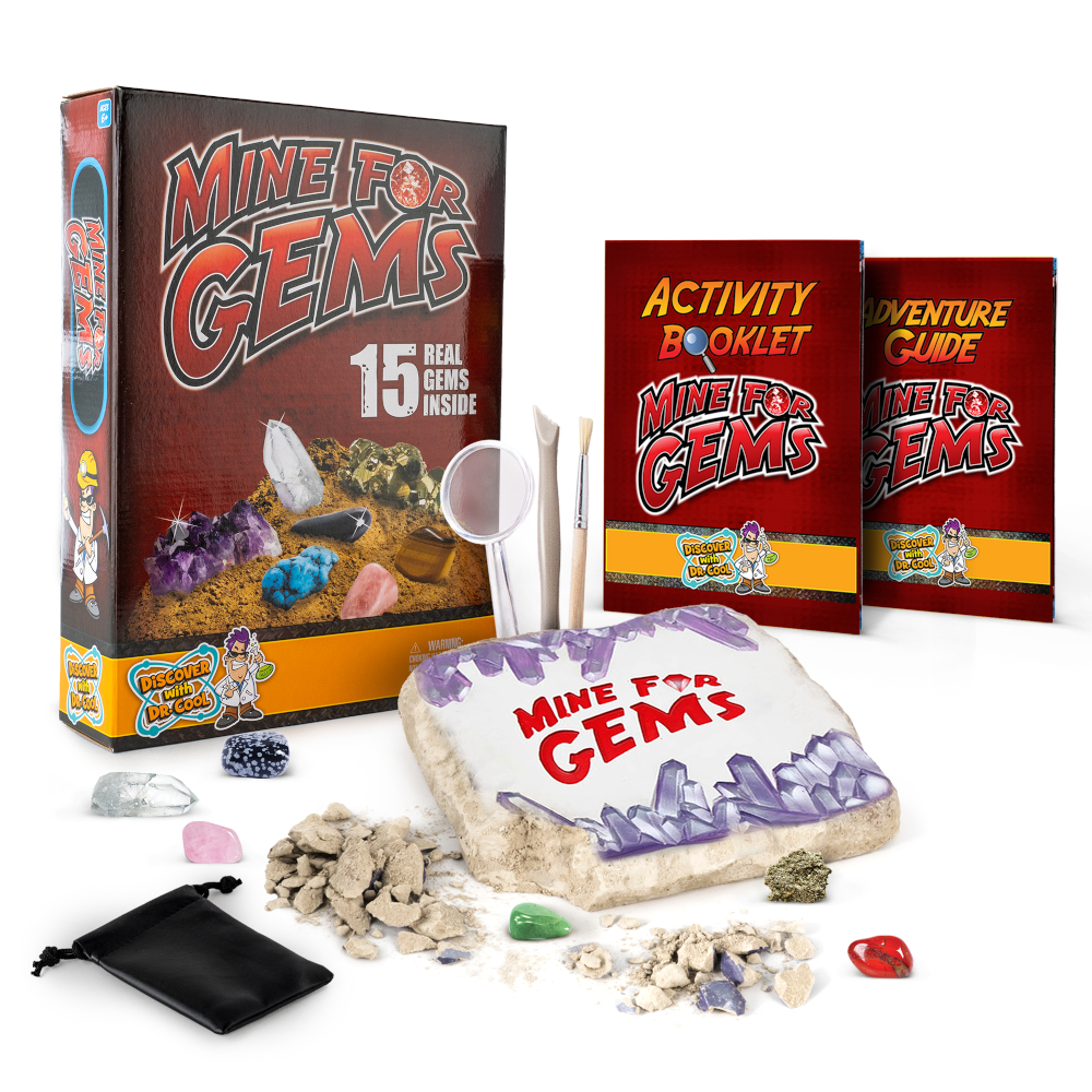 Click for a chance to win a free gem mining kit!