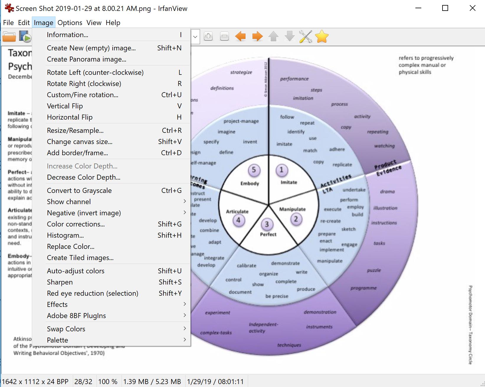 Screen shot using InfraView