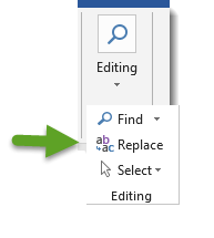 Editing Button-Replace Option