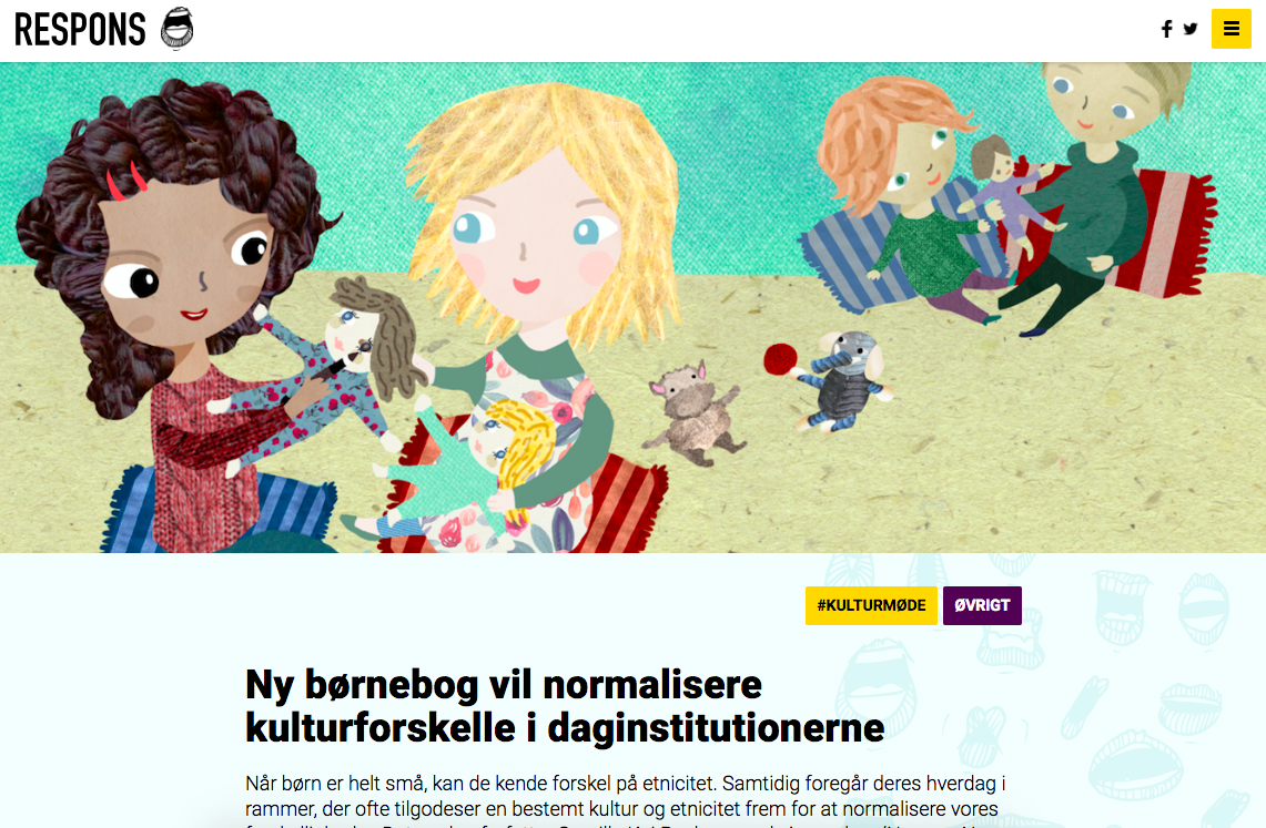 """""""Ny børnebog vil normalisere kulturforskelle i daginstitutionerne"""" - RESPONS"""