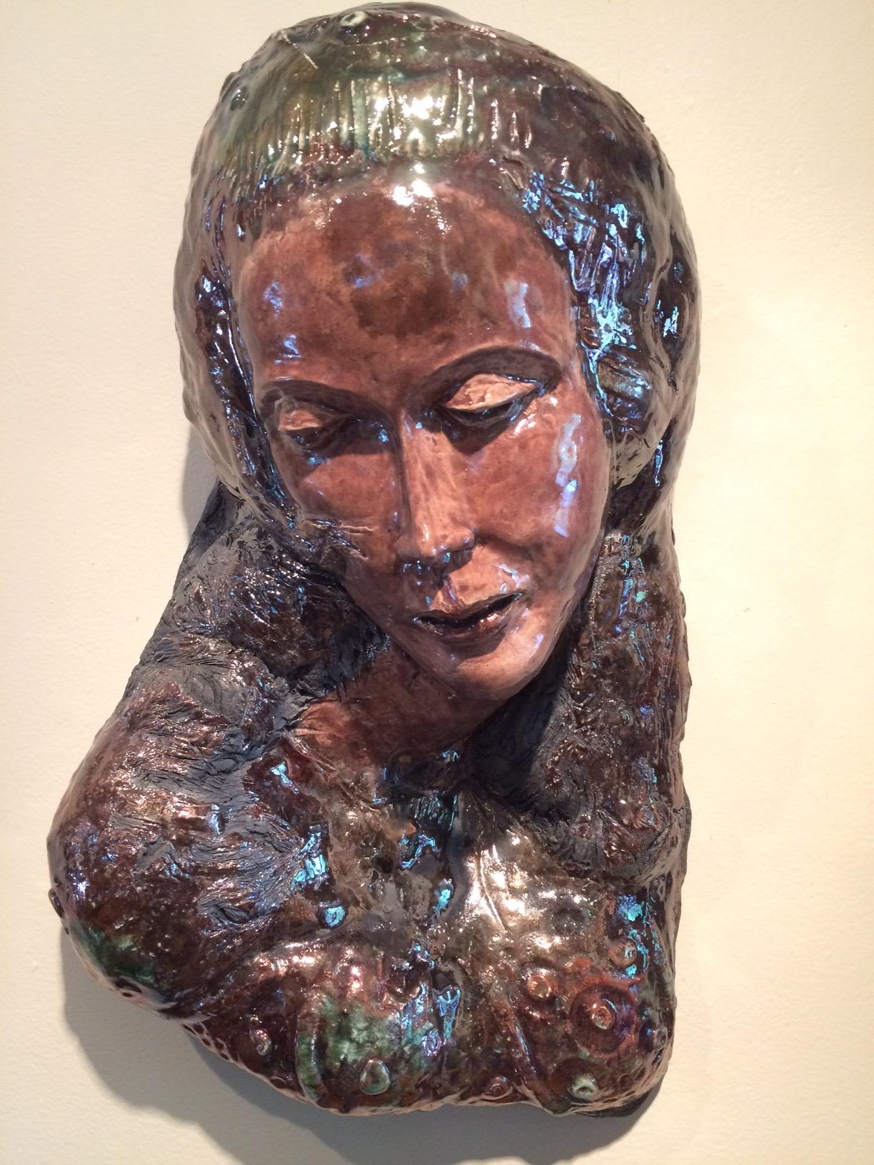 "Spanish Dancer  2015, ceramic, 16x11x6"""