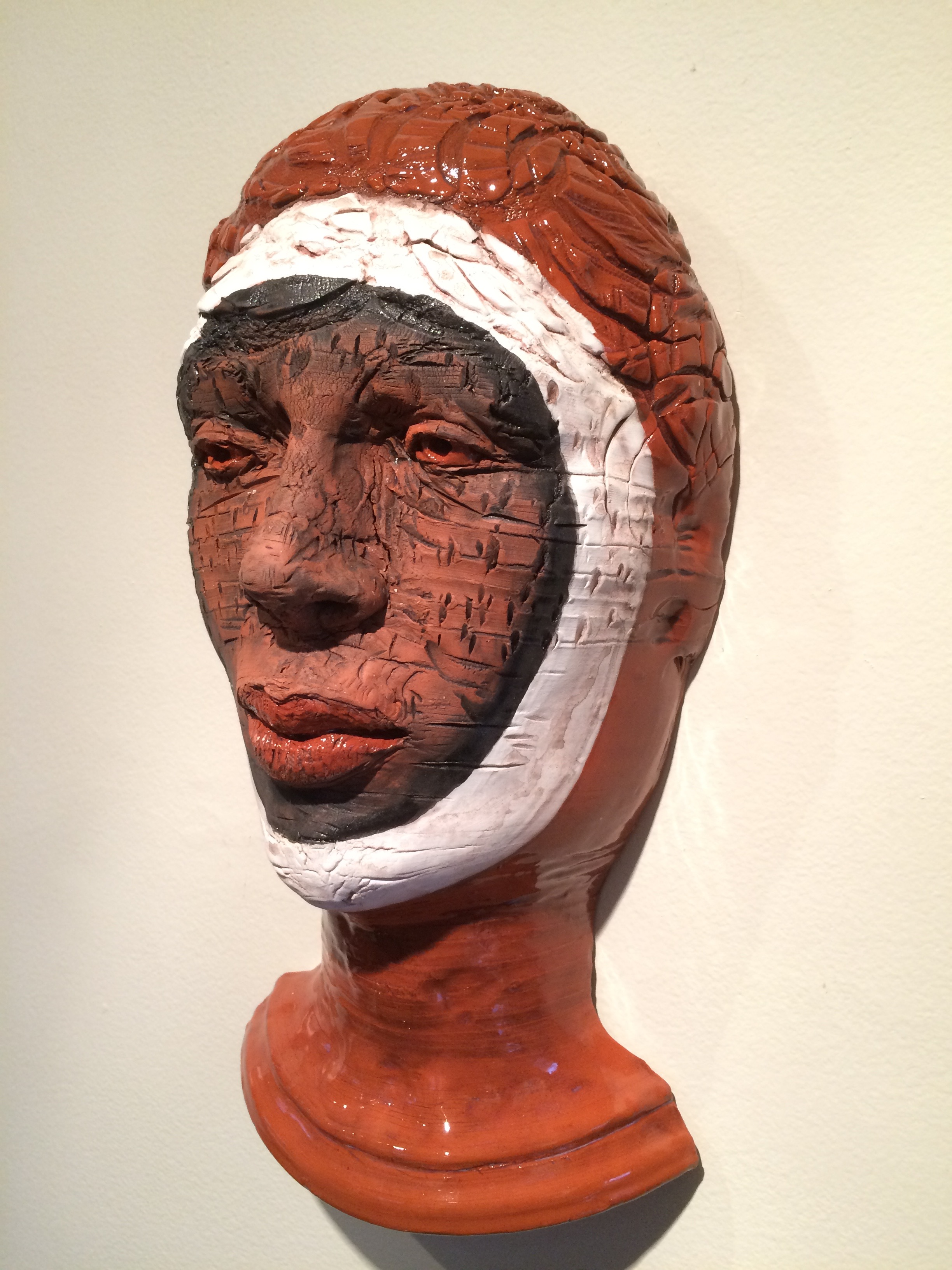 "Woman Warrior  2015, ceramic, 14x8x5"""