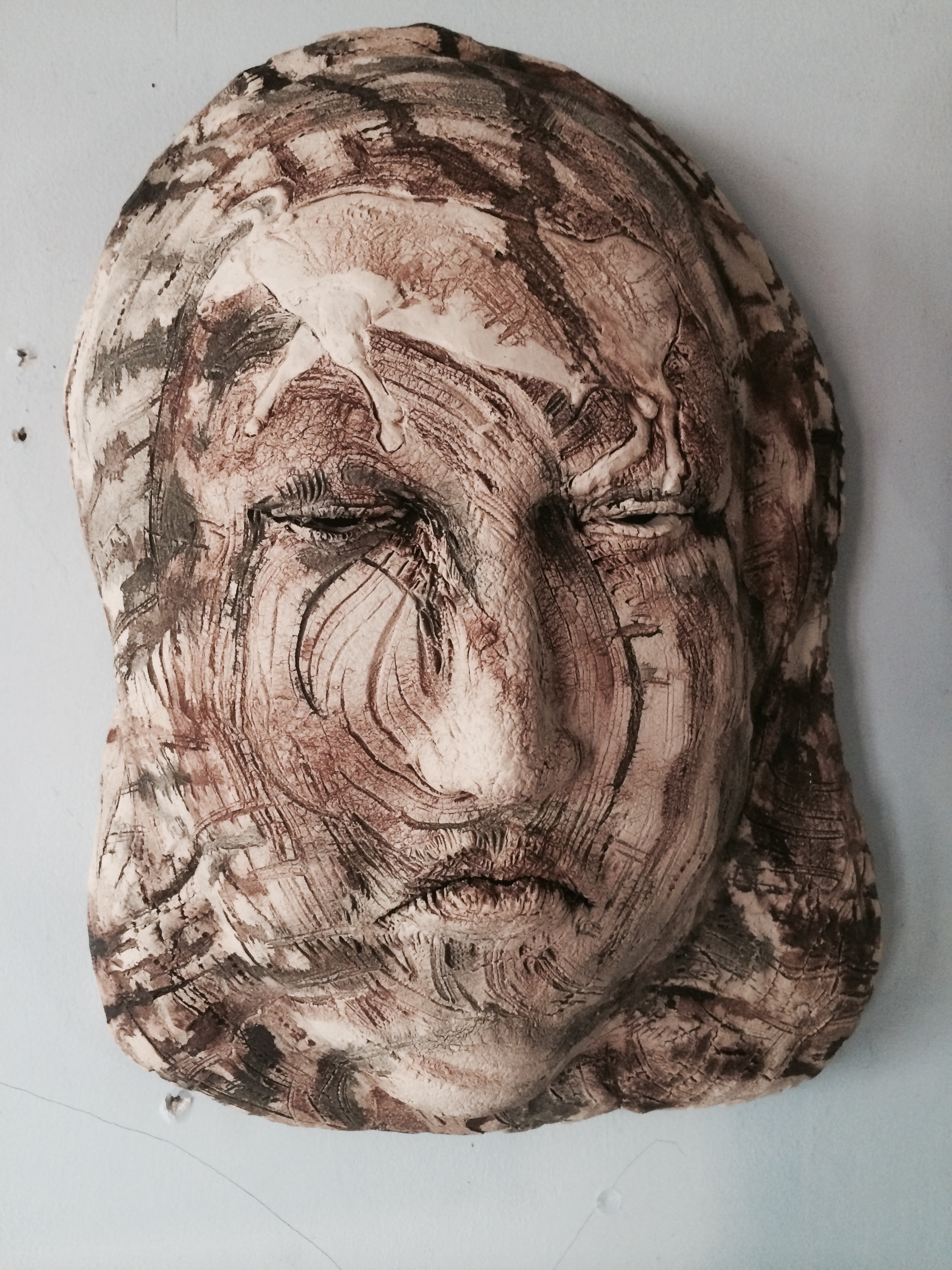 "Thirst  2014, ceramic, 18x12x8"""
