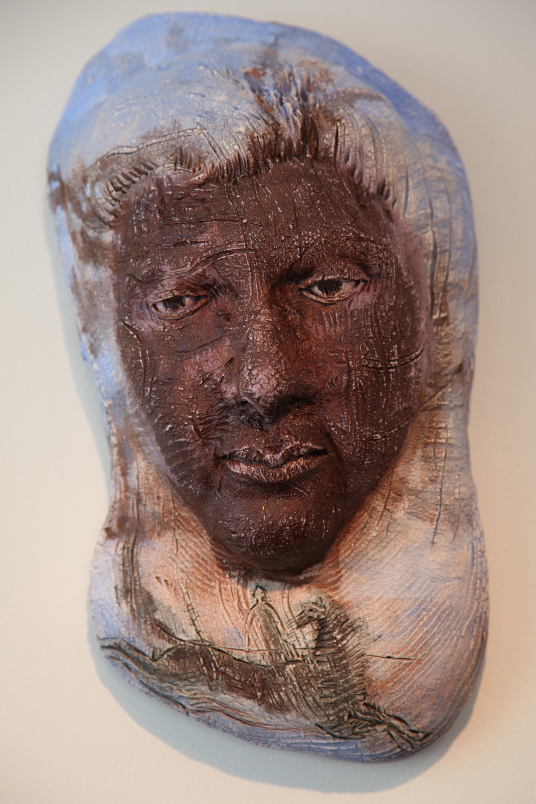 "The Horseman  2014, ceramic, 16x9x6"""