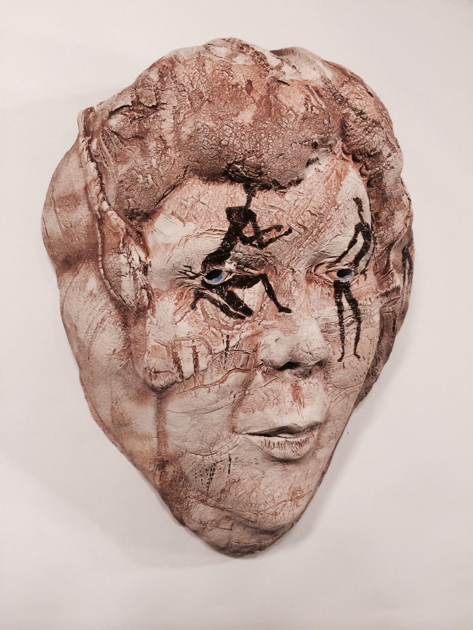 """Head Woman  2014, ceramic, 17x12x9"""""""