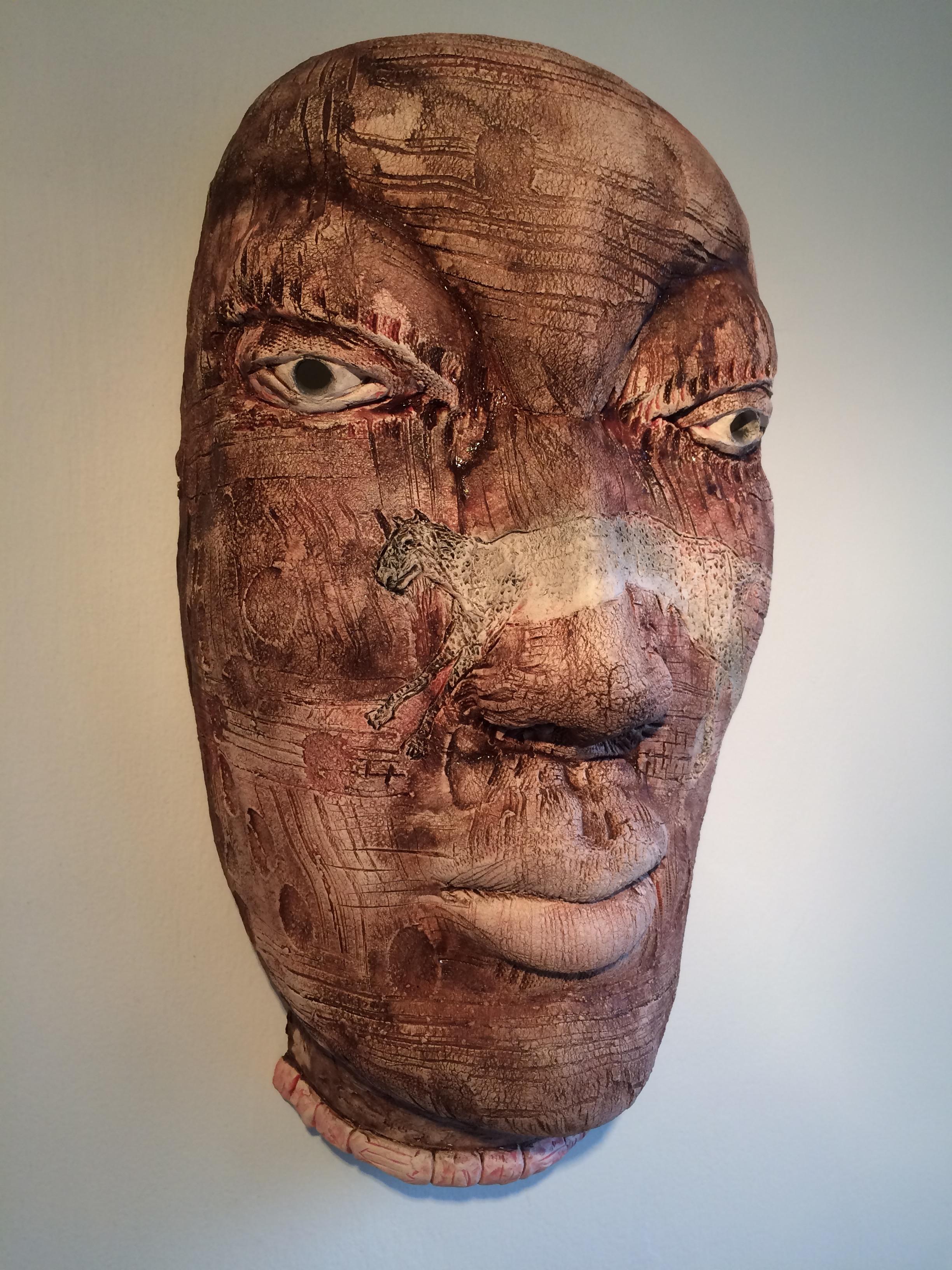 "Leopard Clan  2014, ceramic, 19x10x8"""