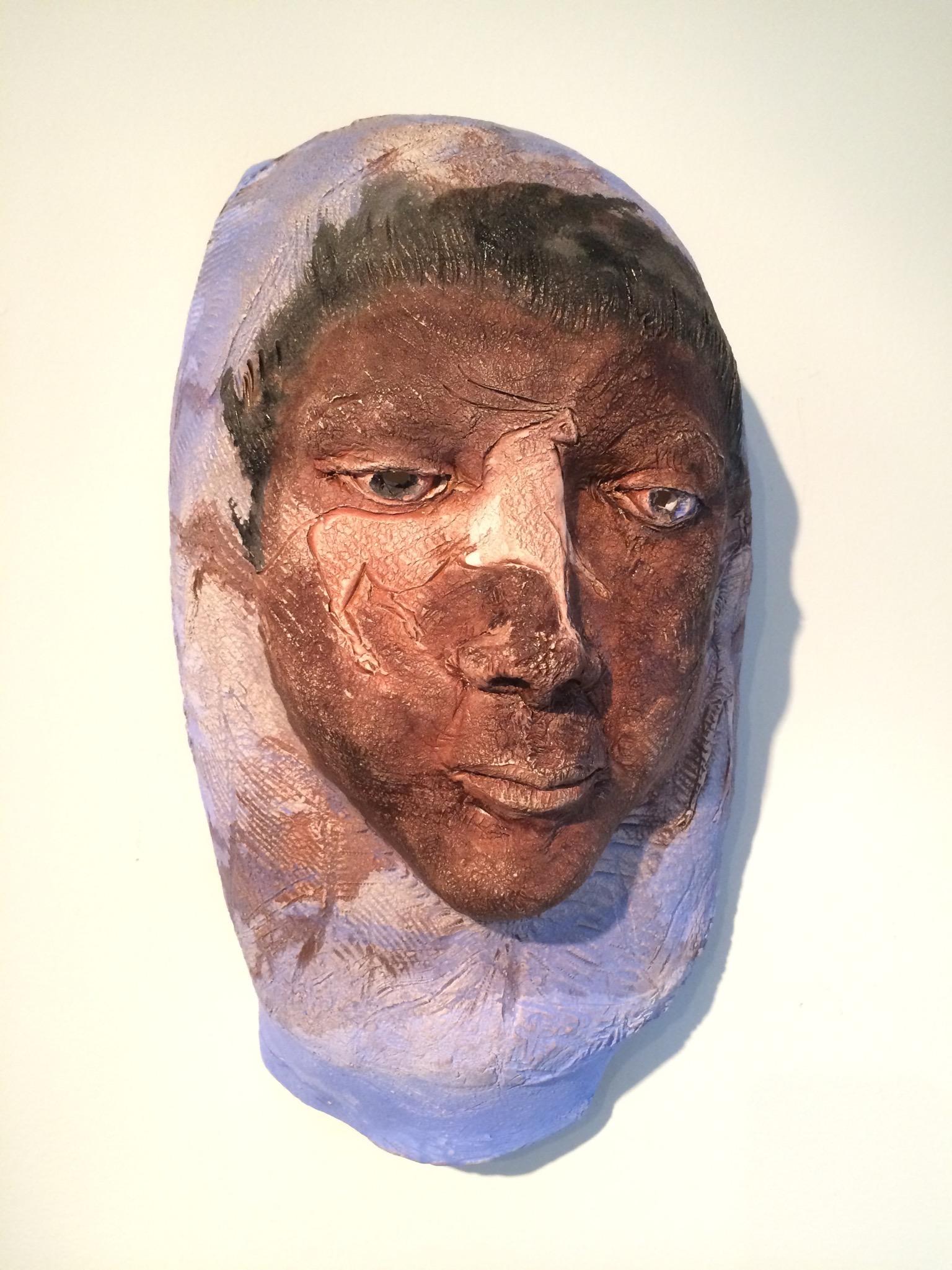 "Shaman's Daughter 2  2014, ceramic, 16x10x7"""