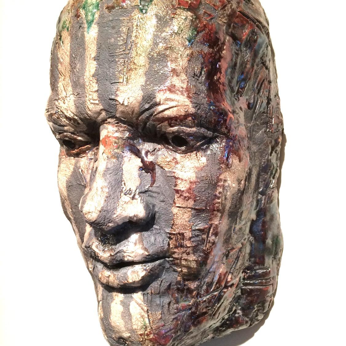 "Night Watchman  2014, ceramic, 13x18x6"""
