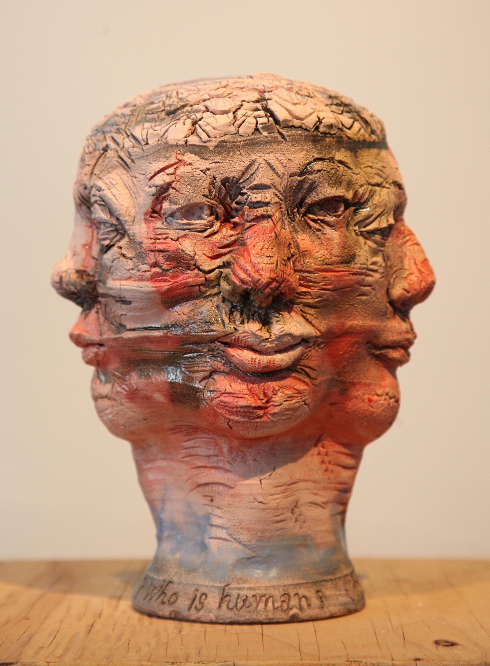 "Who is Human  2015, ceramic, 9.5x7x7"""
