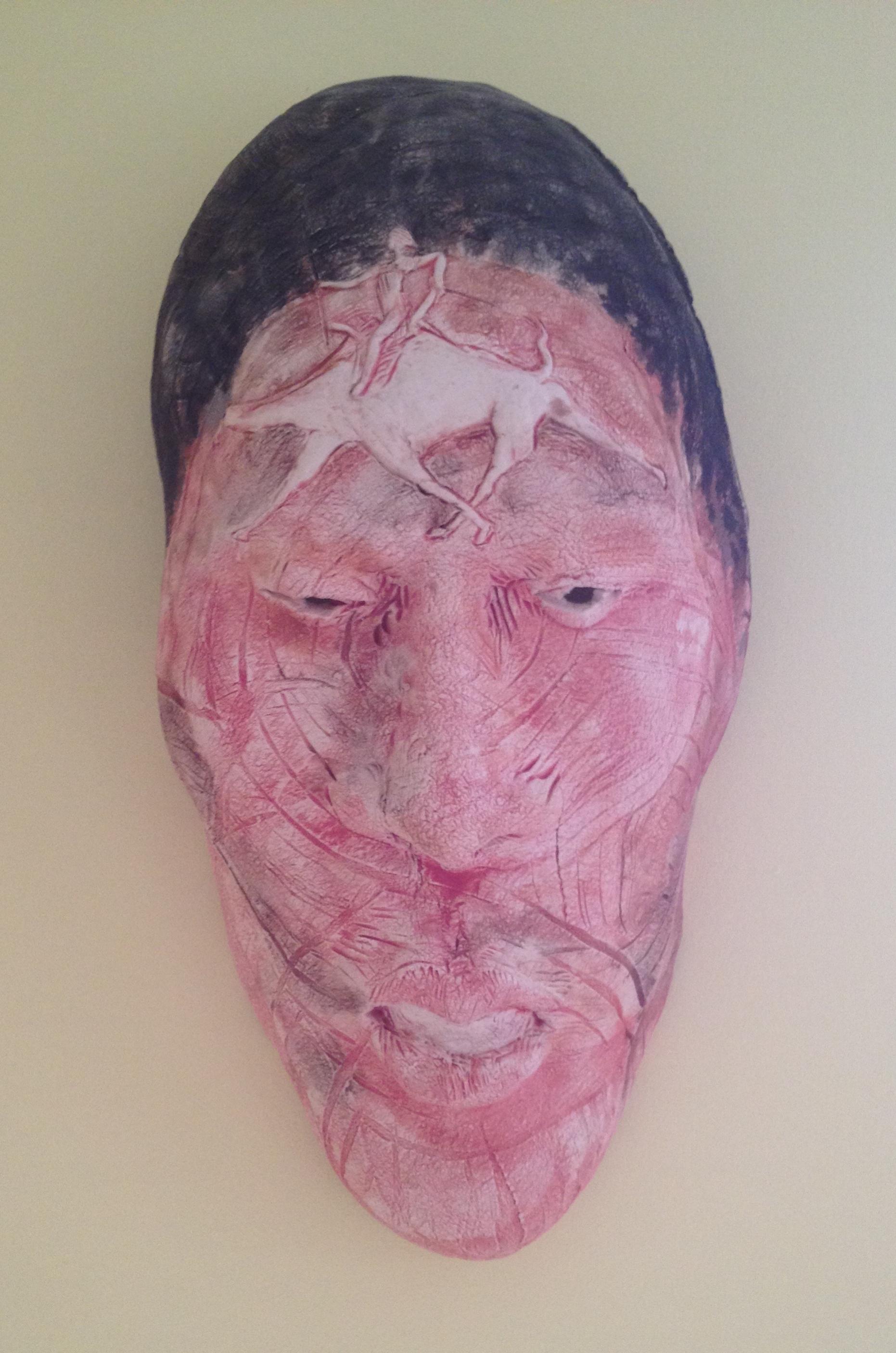 "Desert Warrior  2014, ceramic, 21x12x8"""