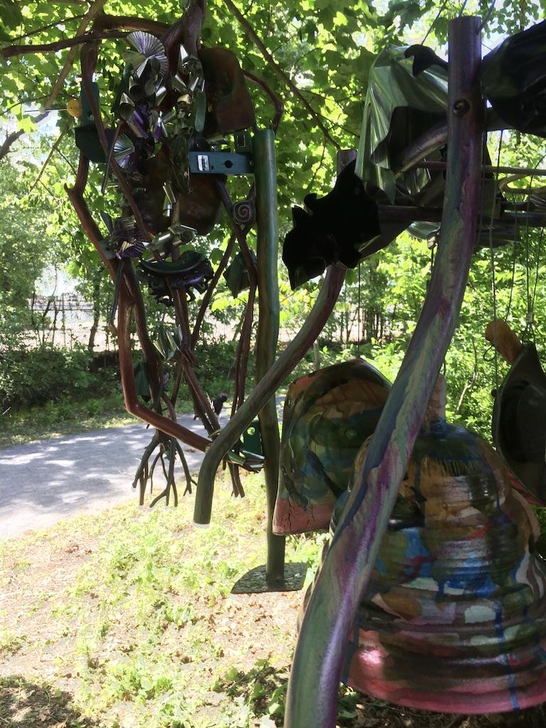 Reverberations  - Studios Without Walls  Newton Upper Falls Greenway June 13 - Sept 3 2019