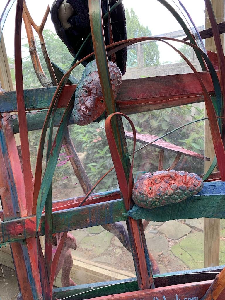 Window Wind Doe  Detail, 2018, mixed media assemblage