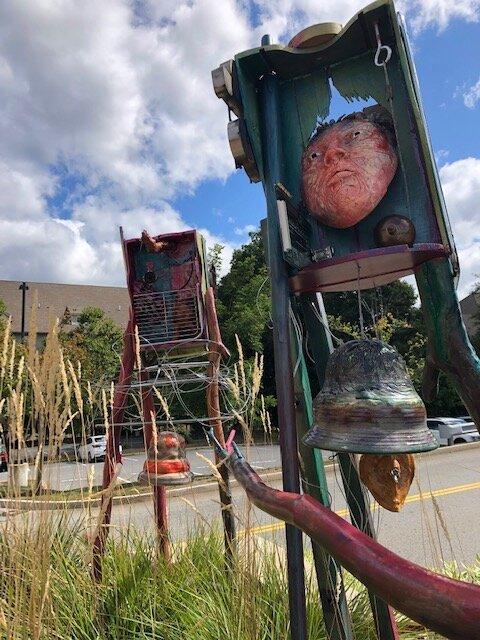 Reverberations , Studios Without Walls, a site specific installation    Until Oct 20, 2019    Chestnut Hill Square, Brookline, MA