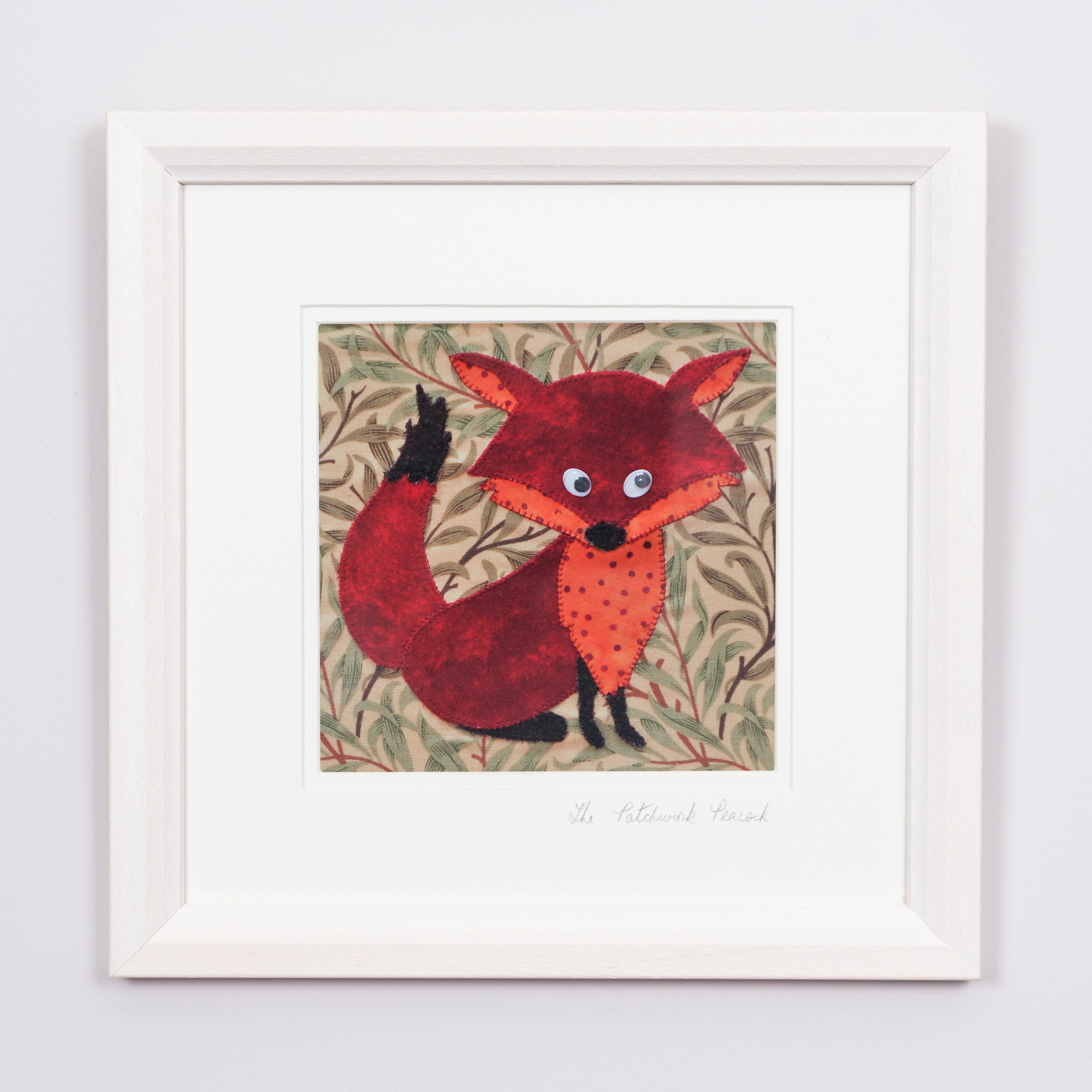 "Fox €35   6""x6"" in an 8""x8"" frame"