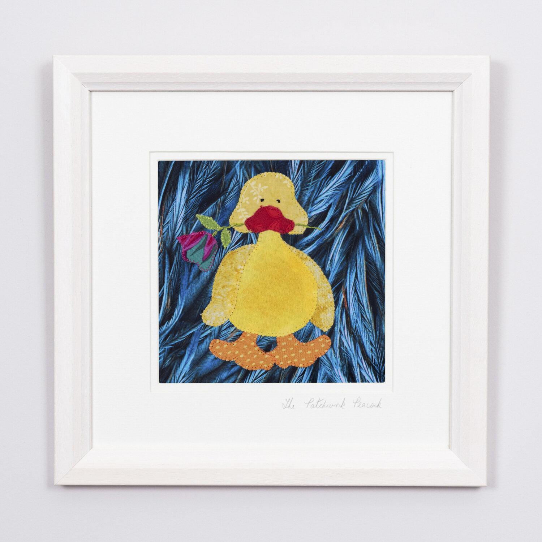 "Dreamy Duck €45   6""x6"" in an 8""x8"" frame"