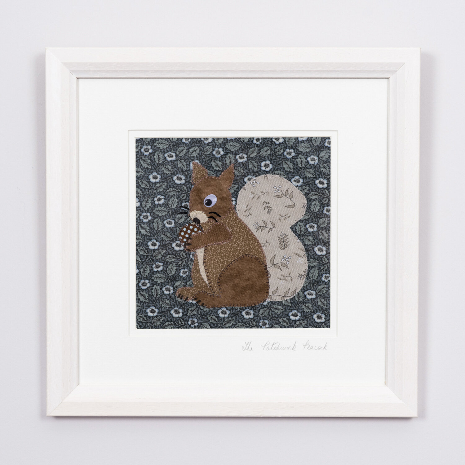 """Sweet Squirrel €50   6""""x6"""" in an 8""""x8"""" frame"""