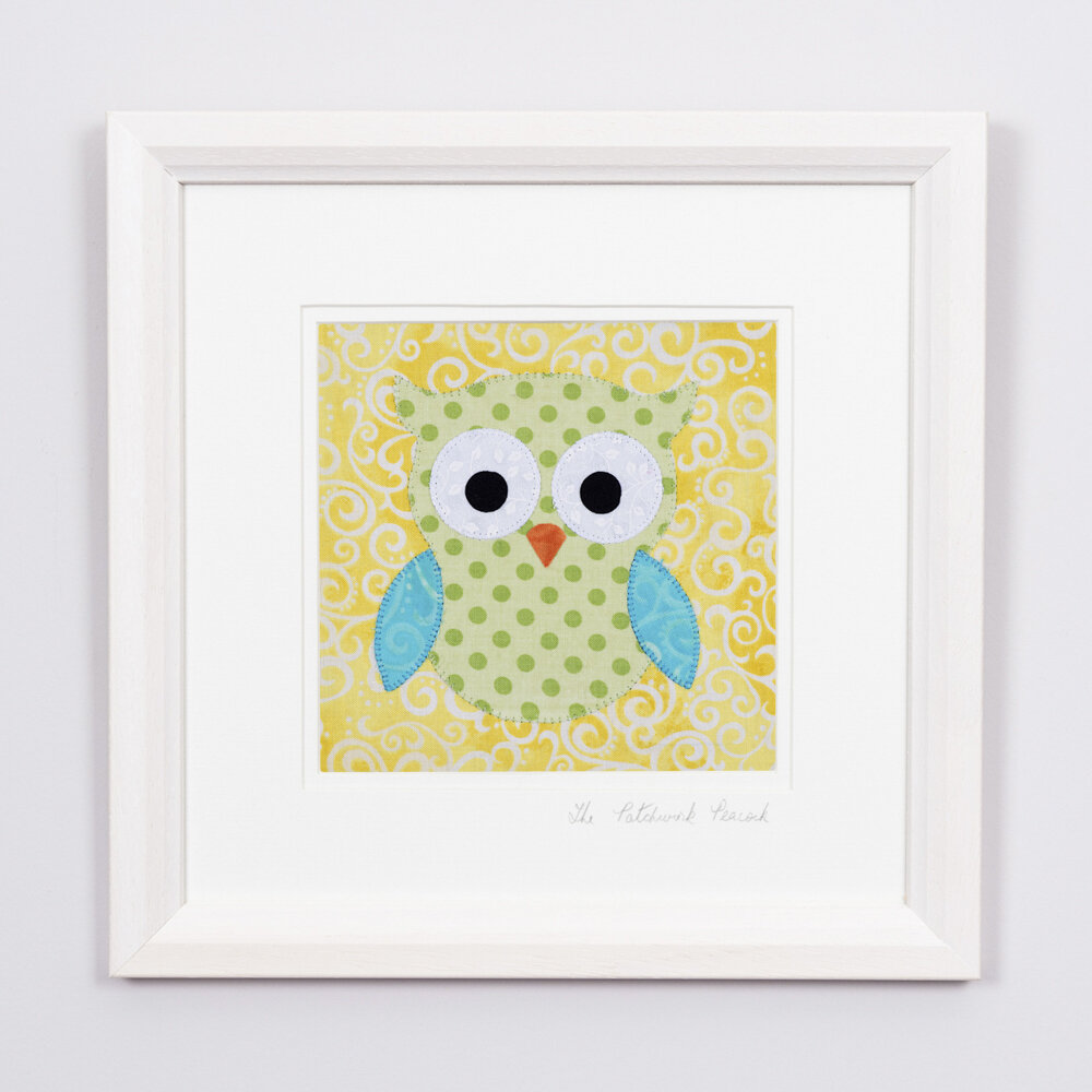 """Omnipotent Owl   €45   6""""x6"""" in an 8""""x8"""" frame"""