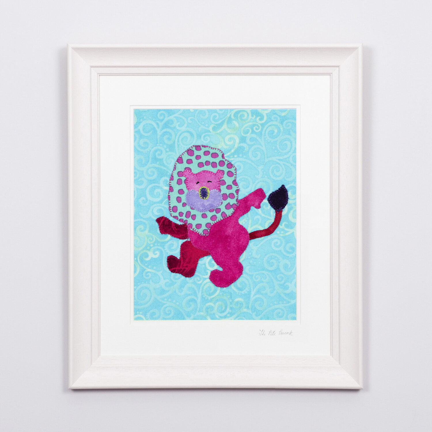 """Lucy The Lion €65   8'""""x10"""" in a 15""""x17"""" frame"""