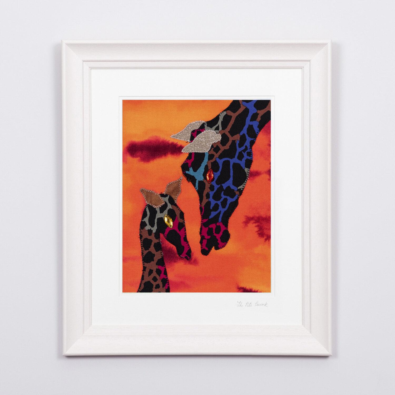 "Graceful Giraffes   €70   8'""x10"" in a 15""x17"" frame"