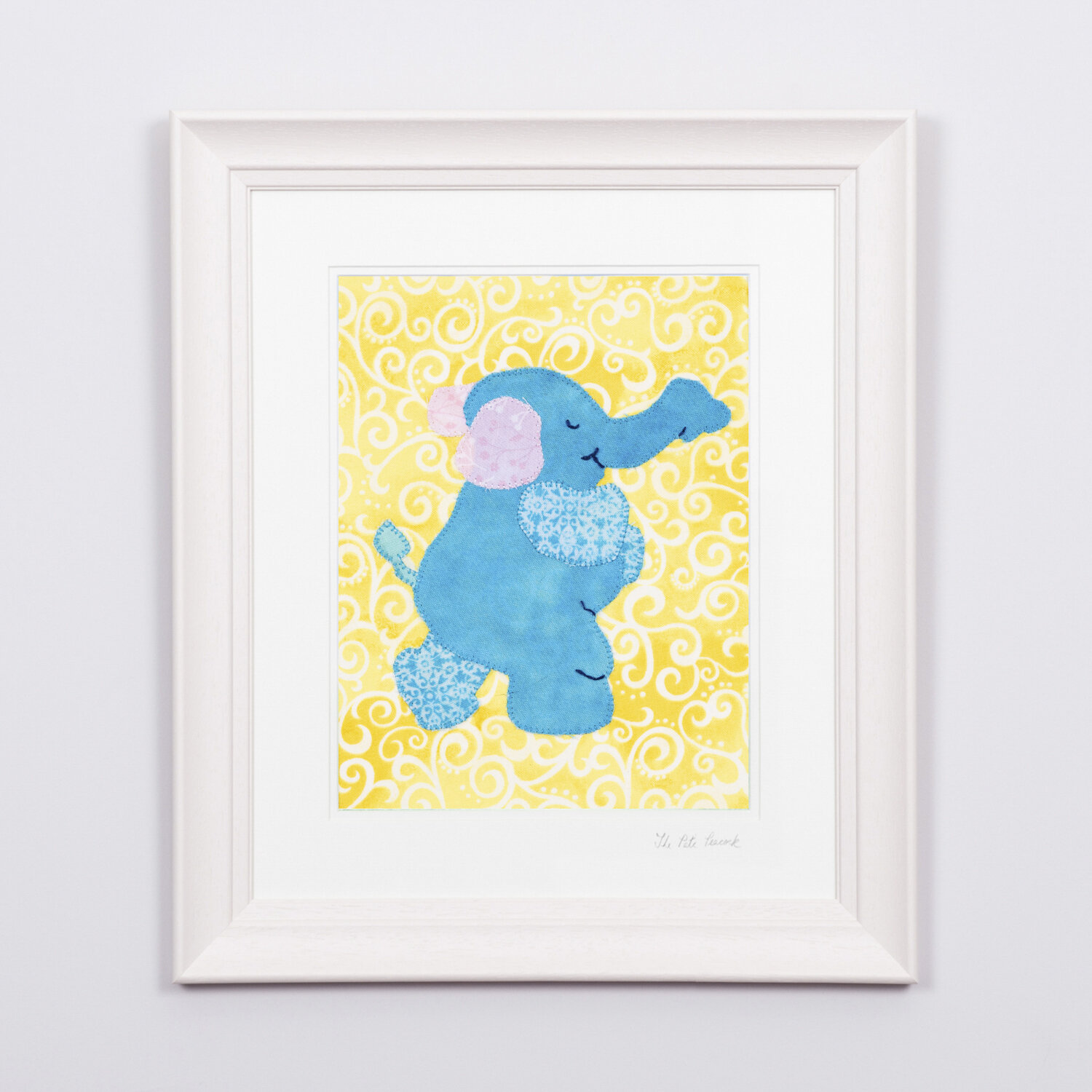 """Ellie The Elephant €65   8'""""x10"""" in a 15""""x17"""" frame"""