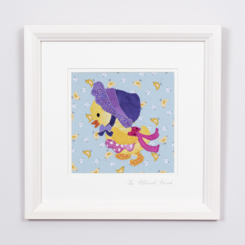 "Delightful Duck €50   6""x6"" in an 8""x8"" frame"