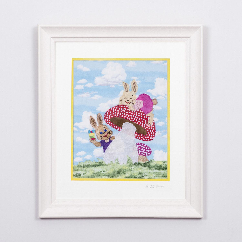 """Bunny Buddies €120   8'""""x10"""" in a 15""""x17"""" frame"""