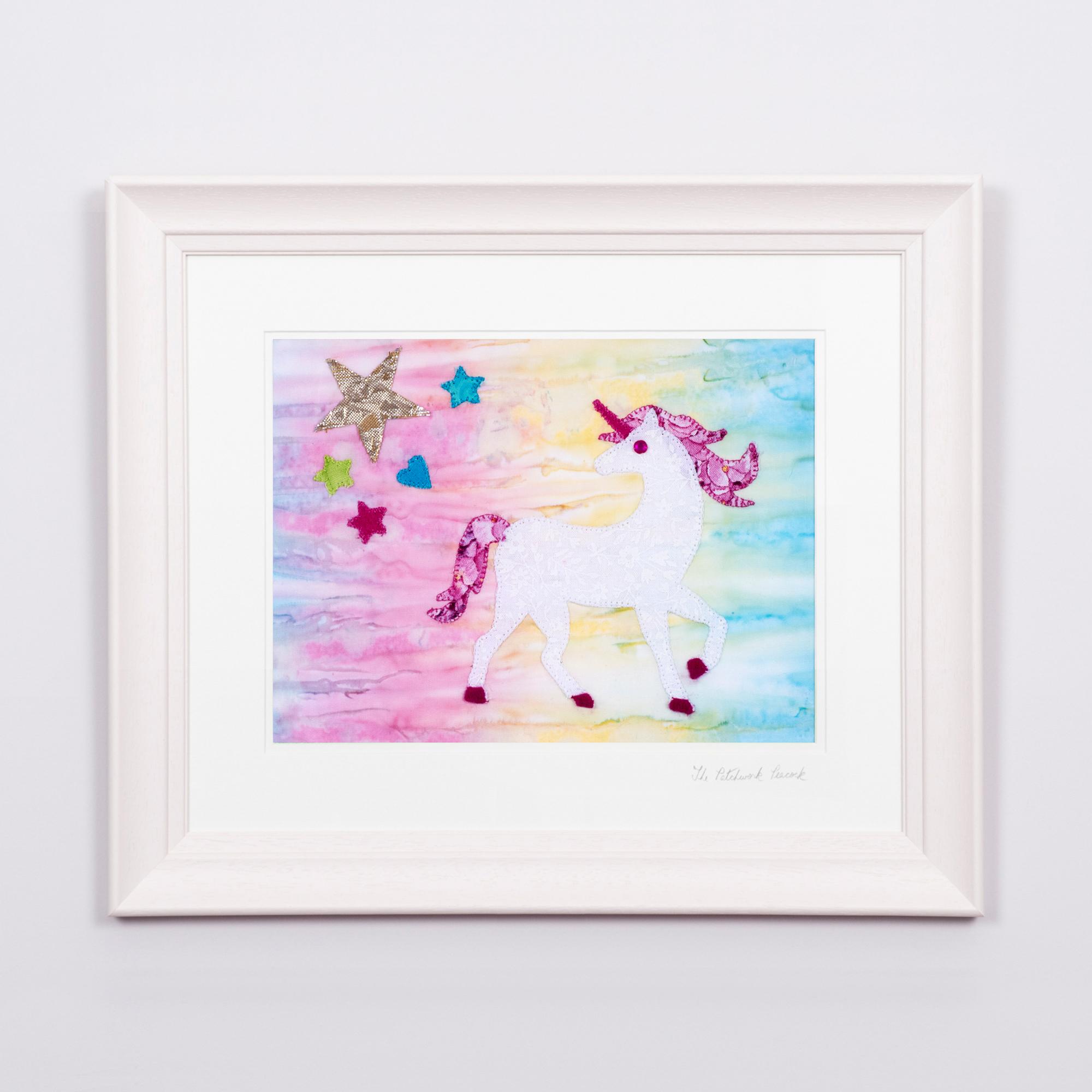"""Unique Unicorn €80   10"""" x 8"""" in a 17""""x 15"""" frame"""