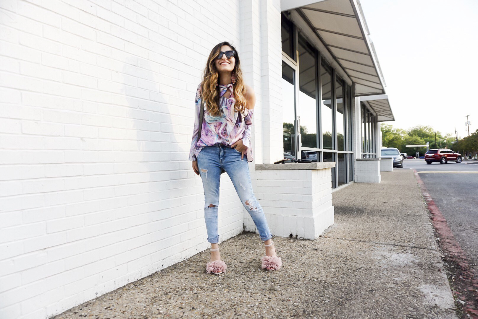 Pretty in Pink | Ruffle Heels and Tie Neck Top - DesignerLipService.com