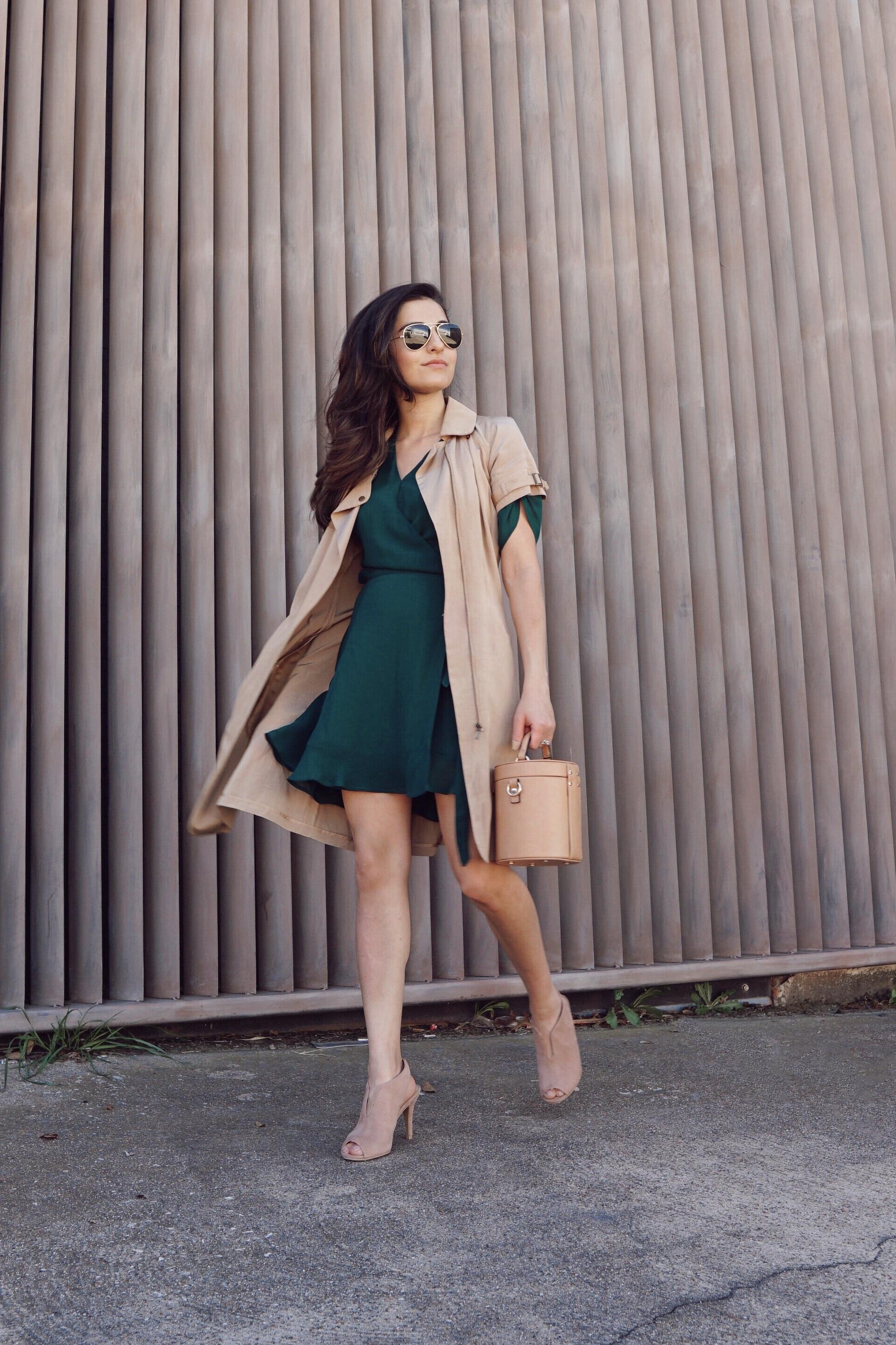 Wrap it Up | Silk Green Dress - ShirinAskari.com