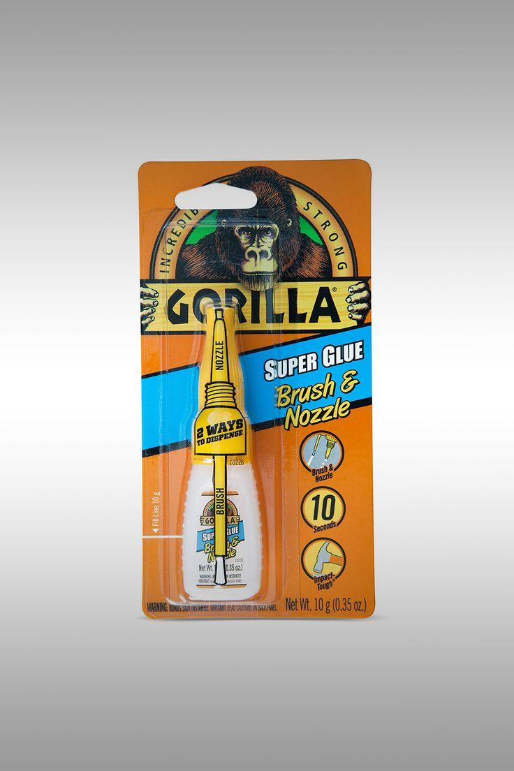 Gorilla Super Glue Brush and Nozzle - Image Credit: Gorilla