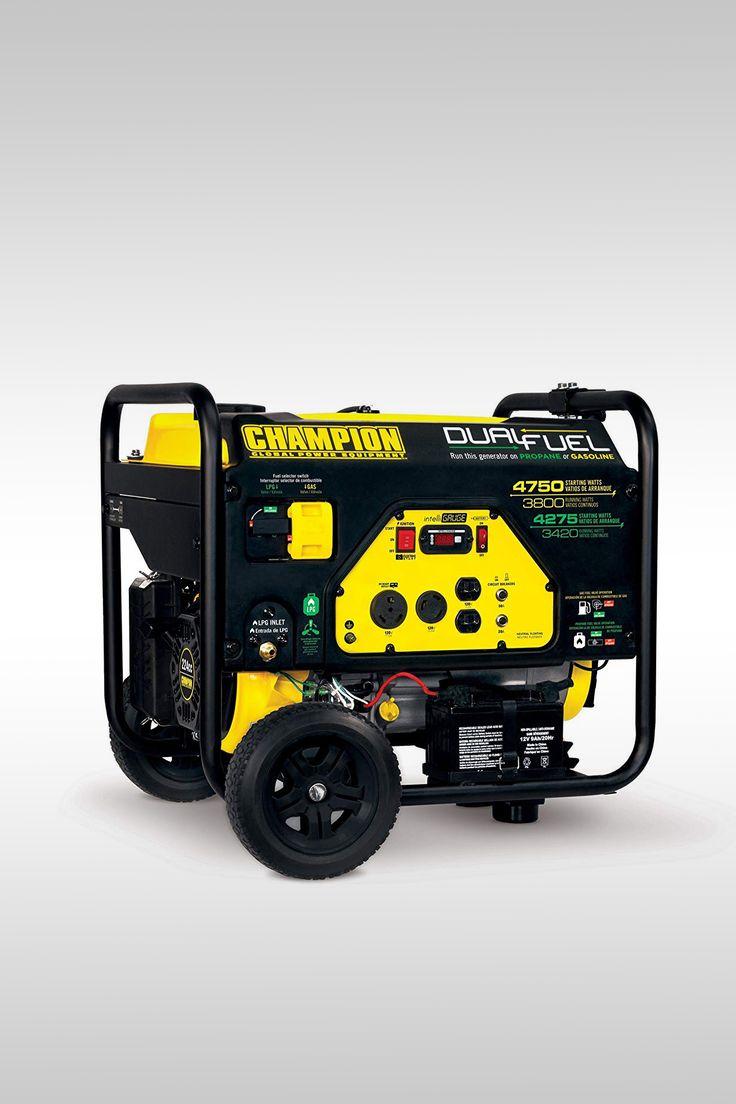 Champion 3800-Watt Dual Fuel RV Ready Portable Generator with Electric Start - Image Credit: Champion Power Equipment